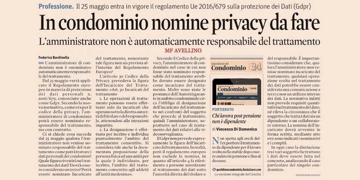 In condominio nomine privacy da fare